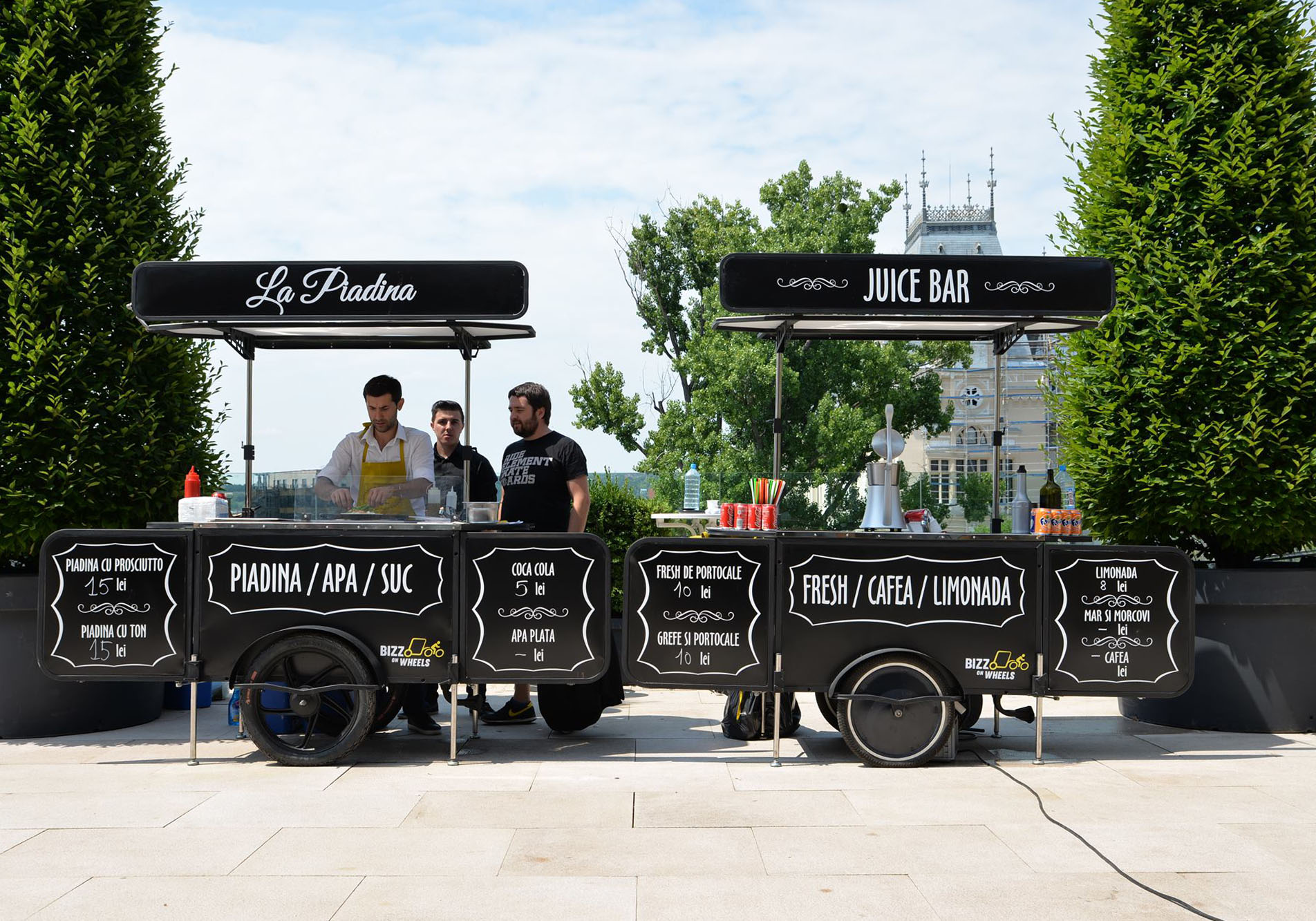 Premium food carts by Bizz On Wheels