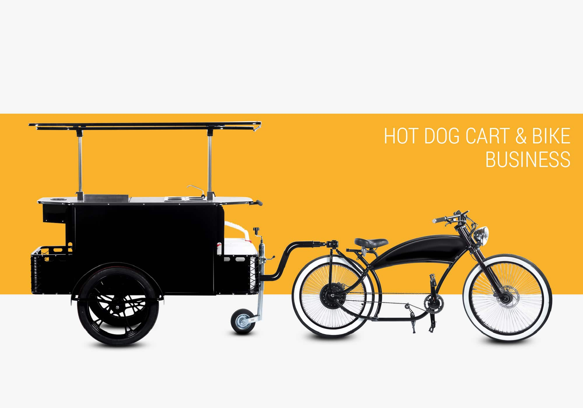 Hot dog cart and hot dog bike business Bizz On Wheels