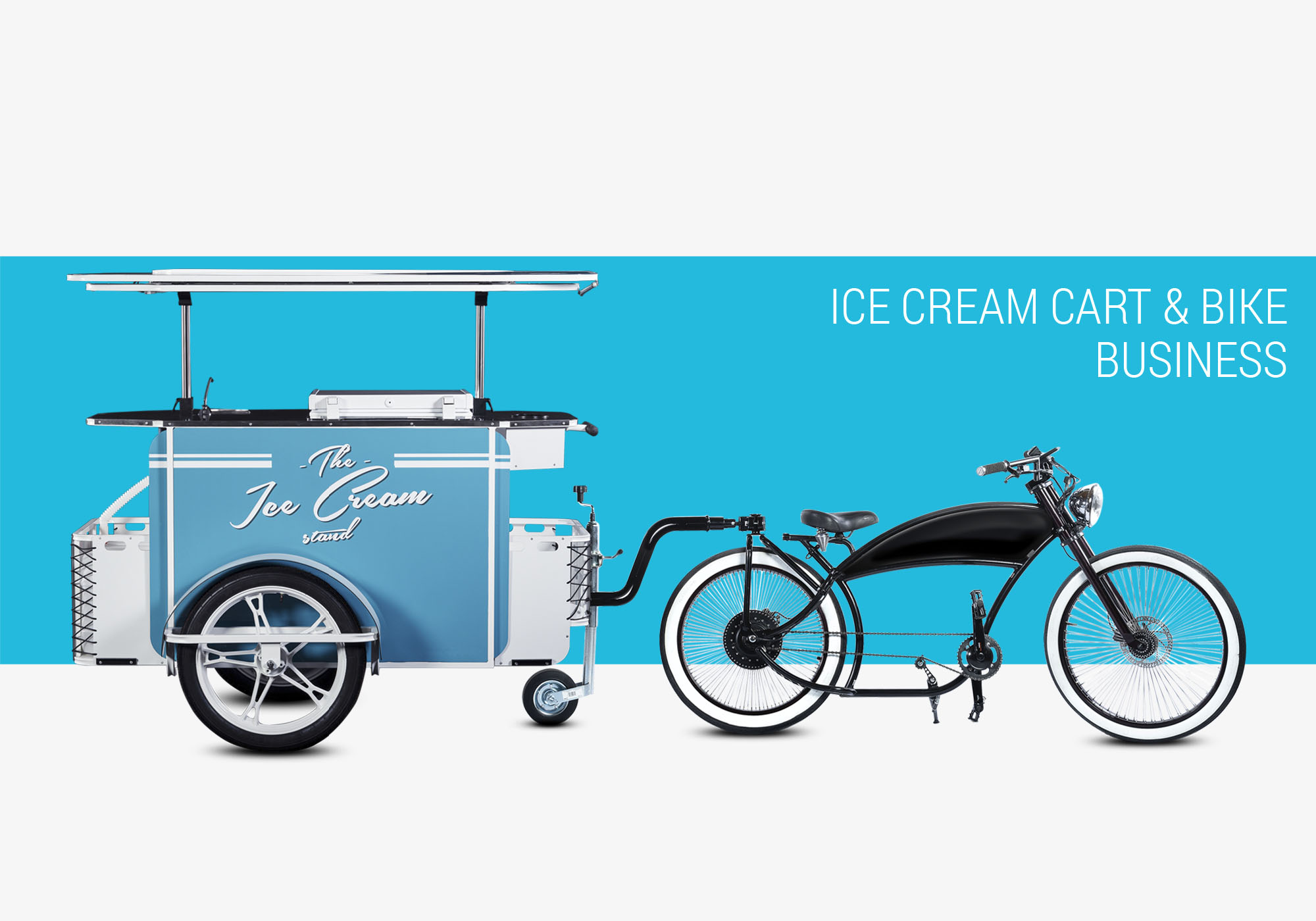Ice cream cart and ice cream bike business Bizz On Wheels