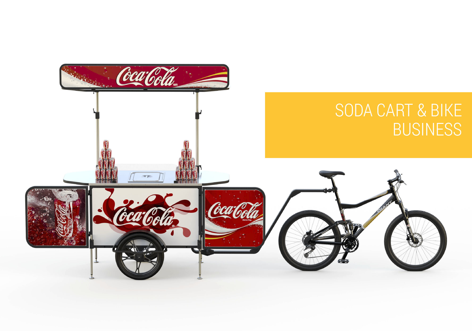 Soda cart and soda bike business Bizz On Wheels