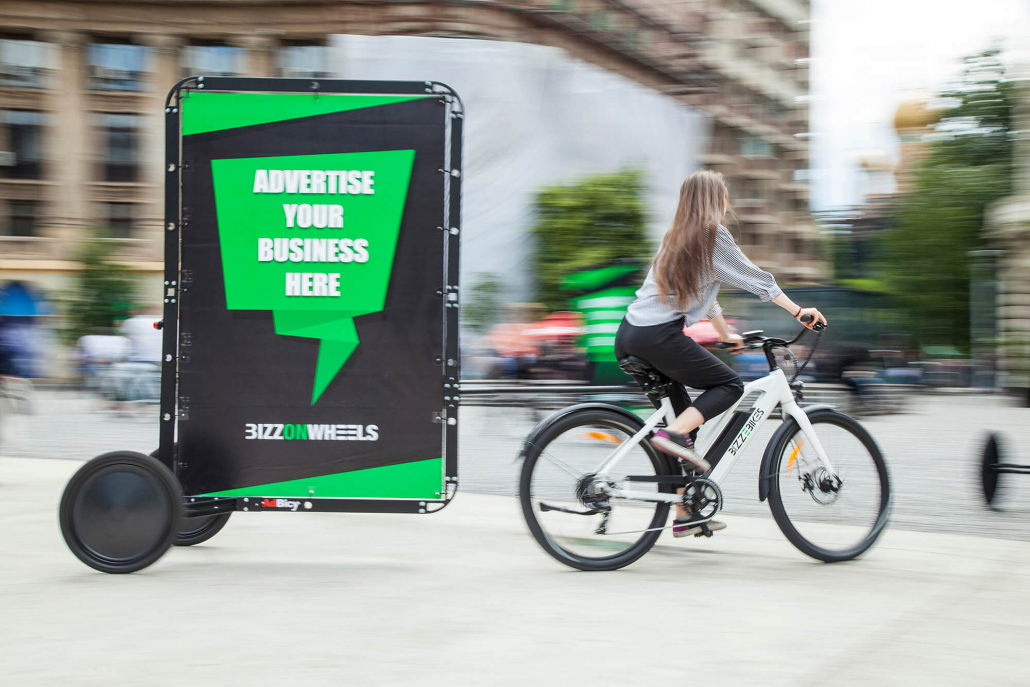 AdBicy advertising bike billboard