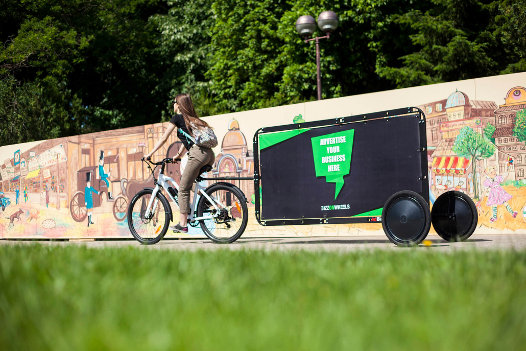 AdBicy bike billboard landscape format