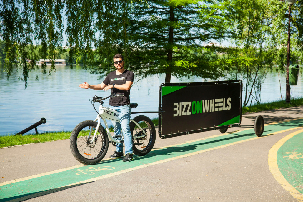 AdBicy bicycle billboard in landscape layout