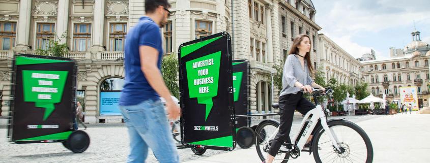 AdBicy advertising bike trailers for OOH advertising