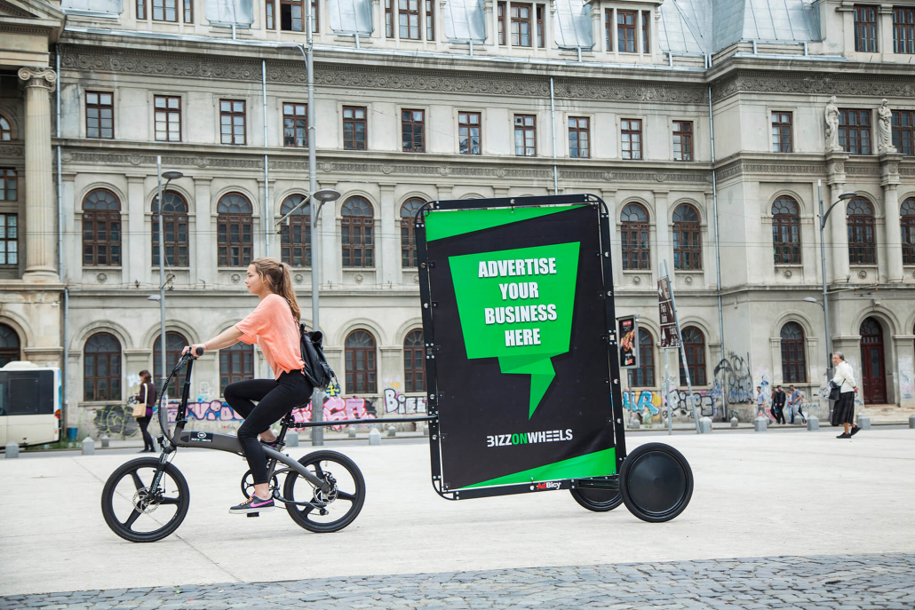 AdBicy bicycle mobile billboard