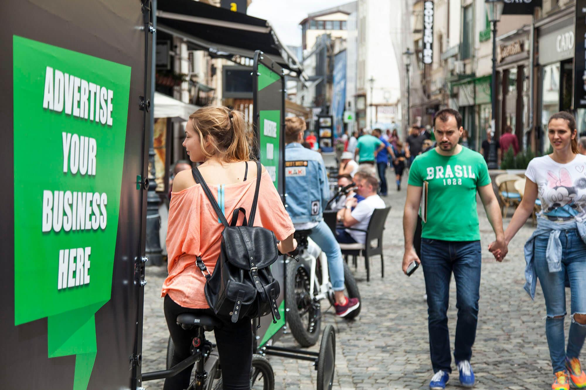 Bike billboard advertising campaign