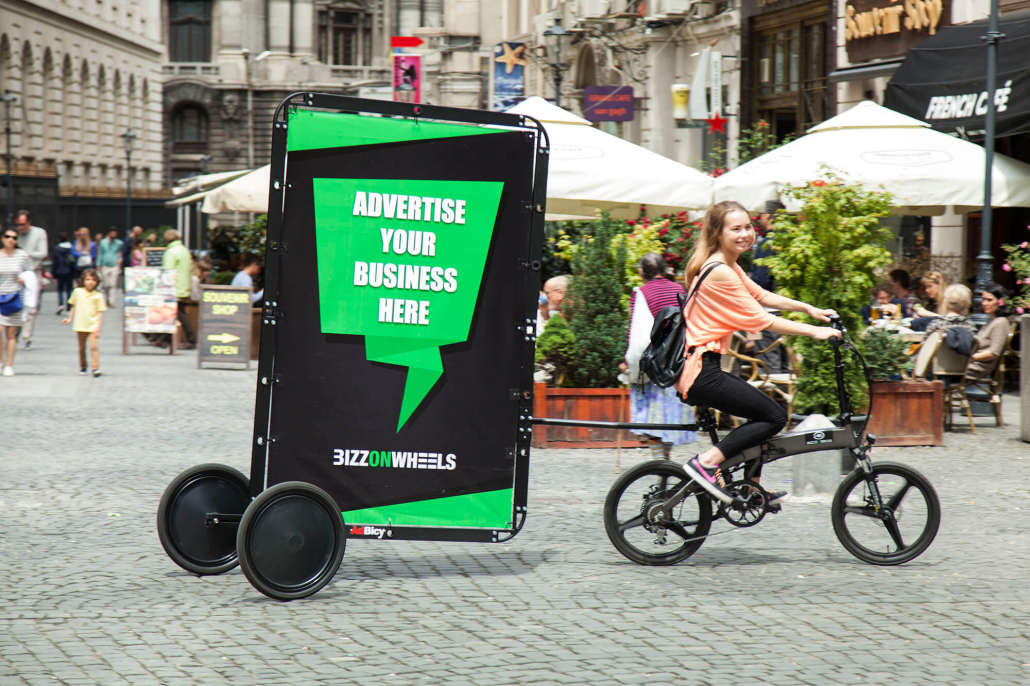E-bike advertising trailer