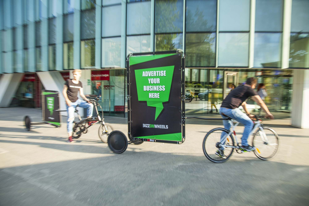Outdoor mobile billboards for city advertising campaigns