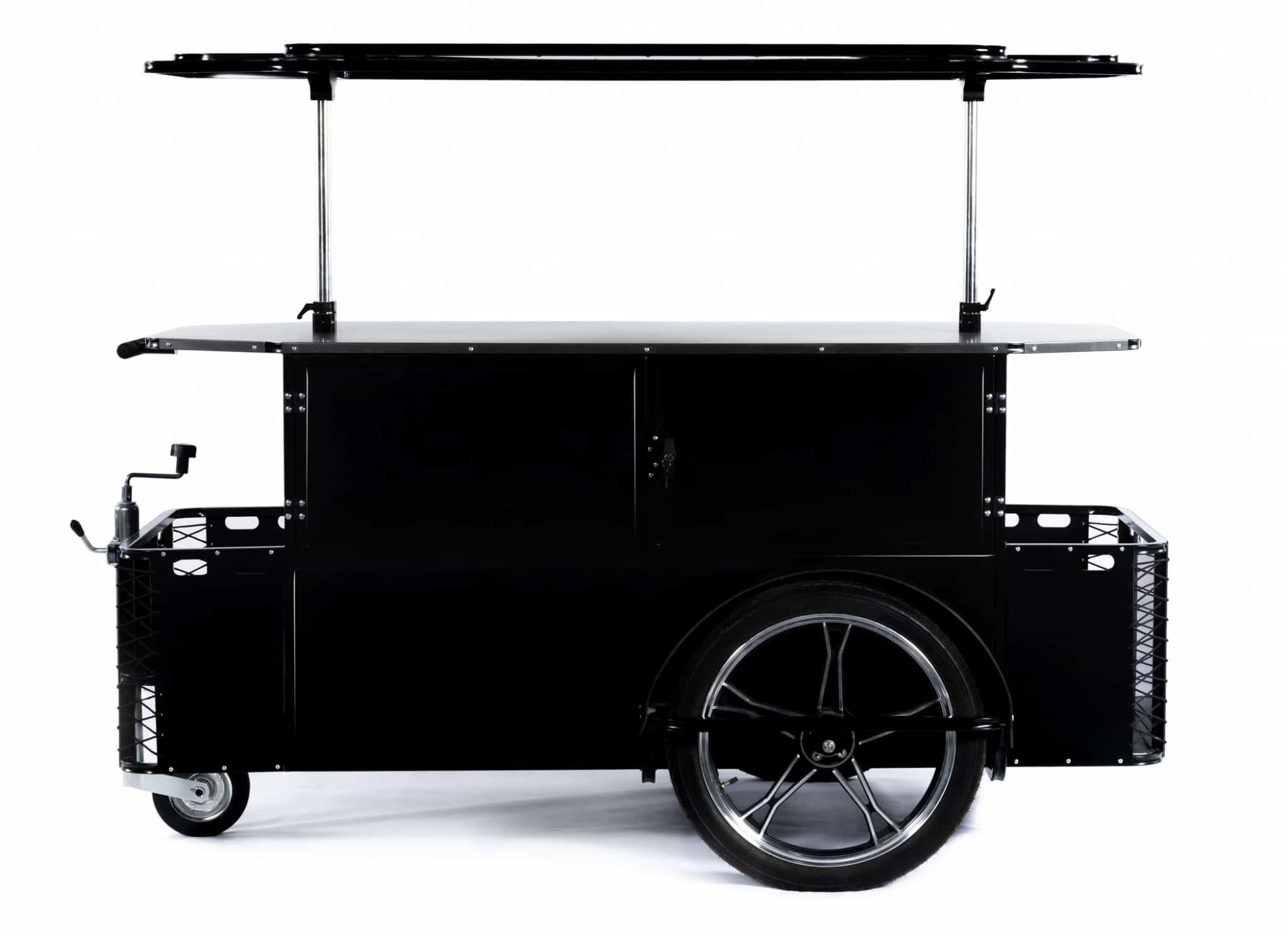 Bizz On Wheels vending cart XL folded