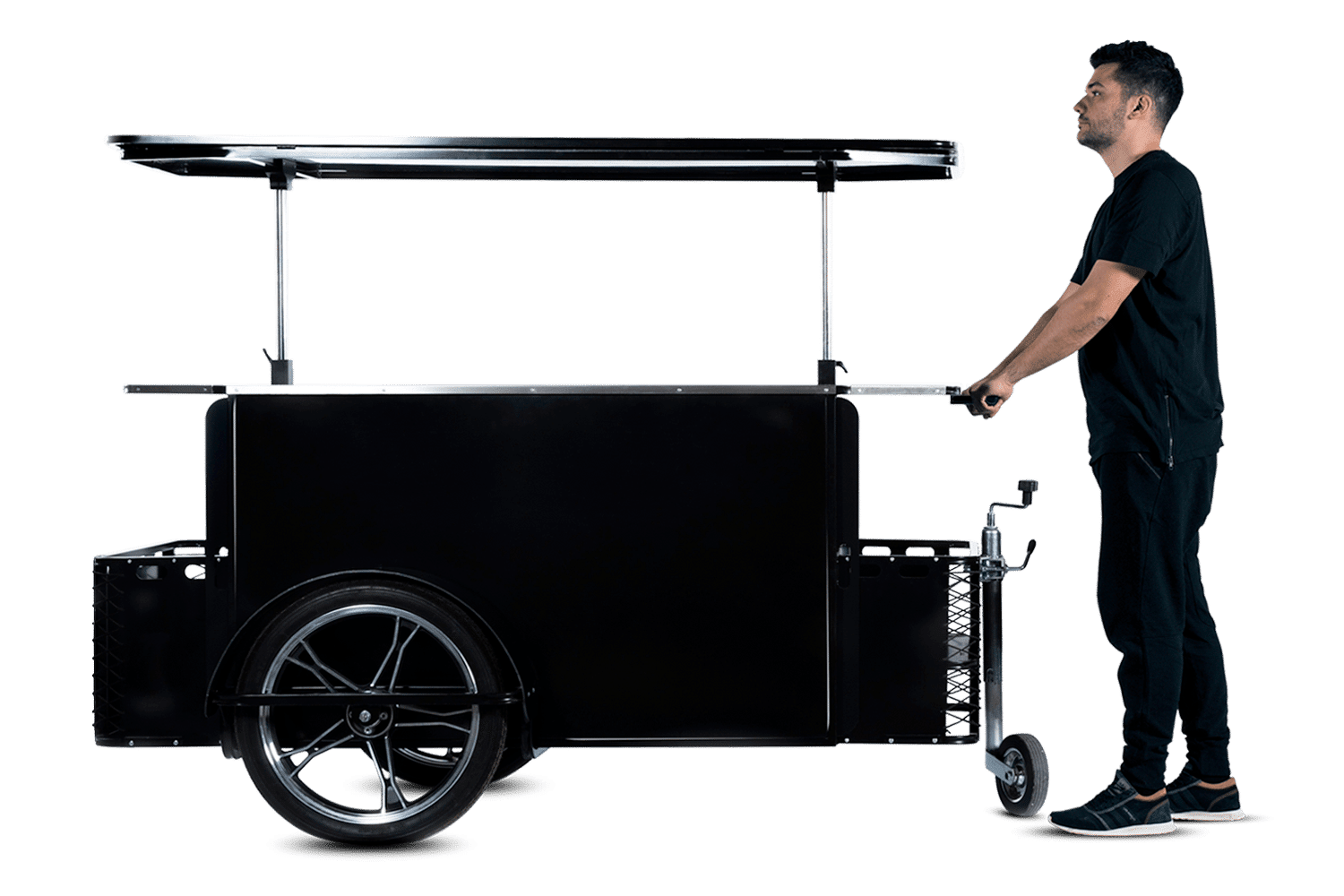 Large push vending cart by Bizz On Wheels