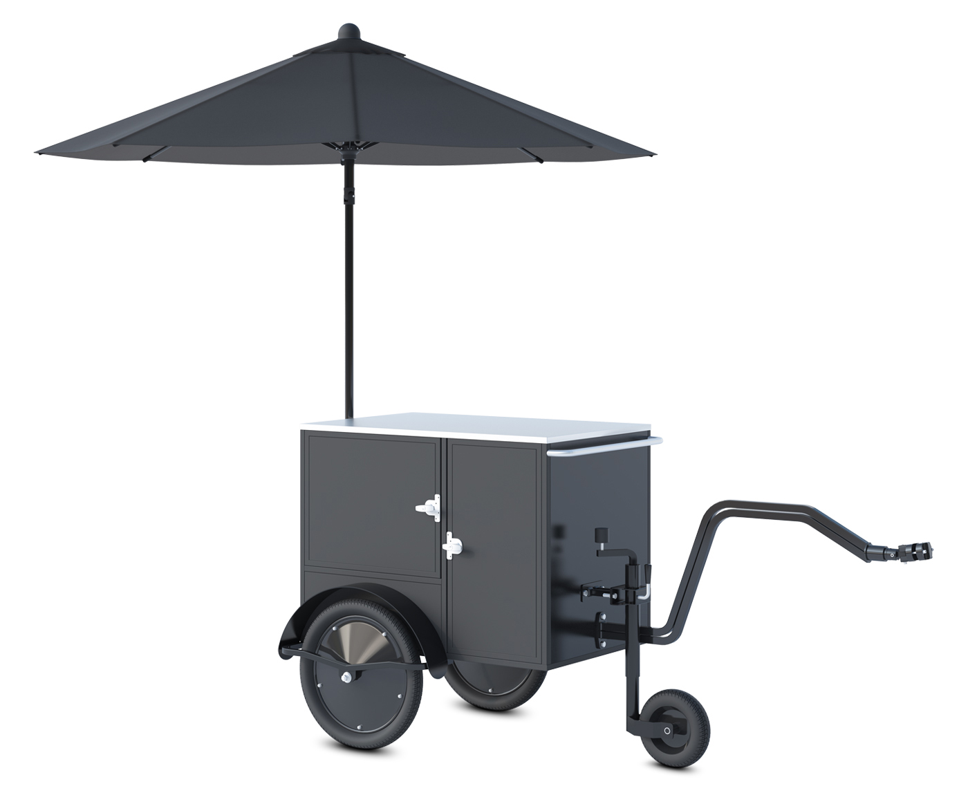 Small vending cart manufactured by Bizz On Wheels