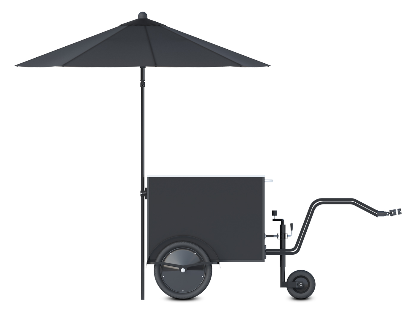 Small food vending cart by Bizz On Wheels