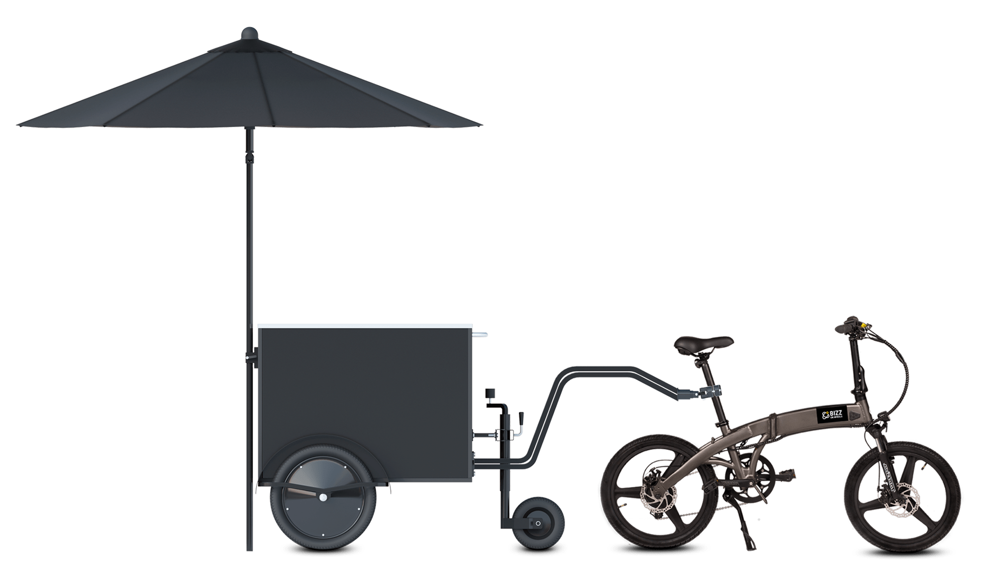 Bicycle towable small vendor cart