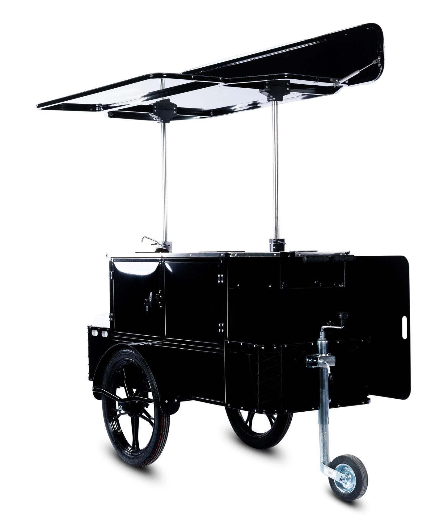 Bizz On Wheels basic coffee cart side view