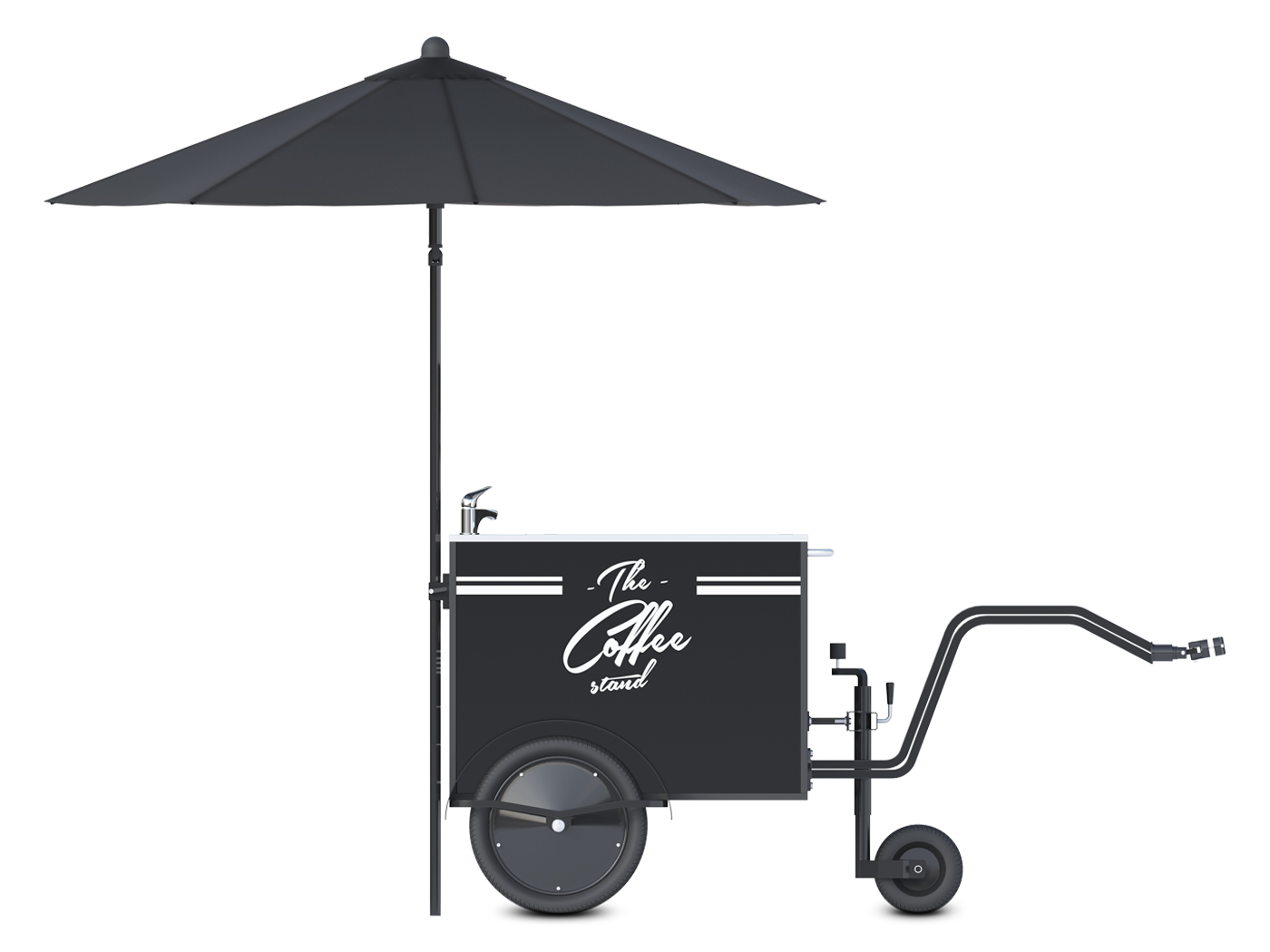 Small coffee cart by Bizz On Wheels