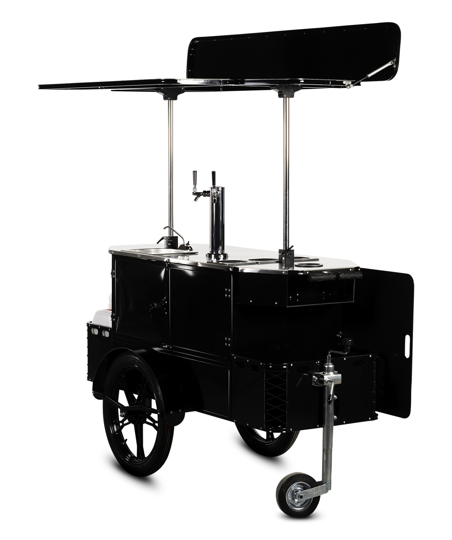 Bizz On Wheels beverage cart side view