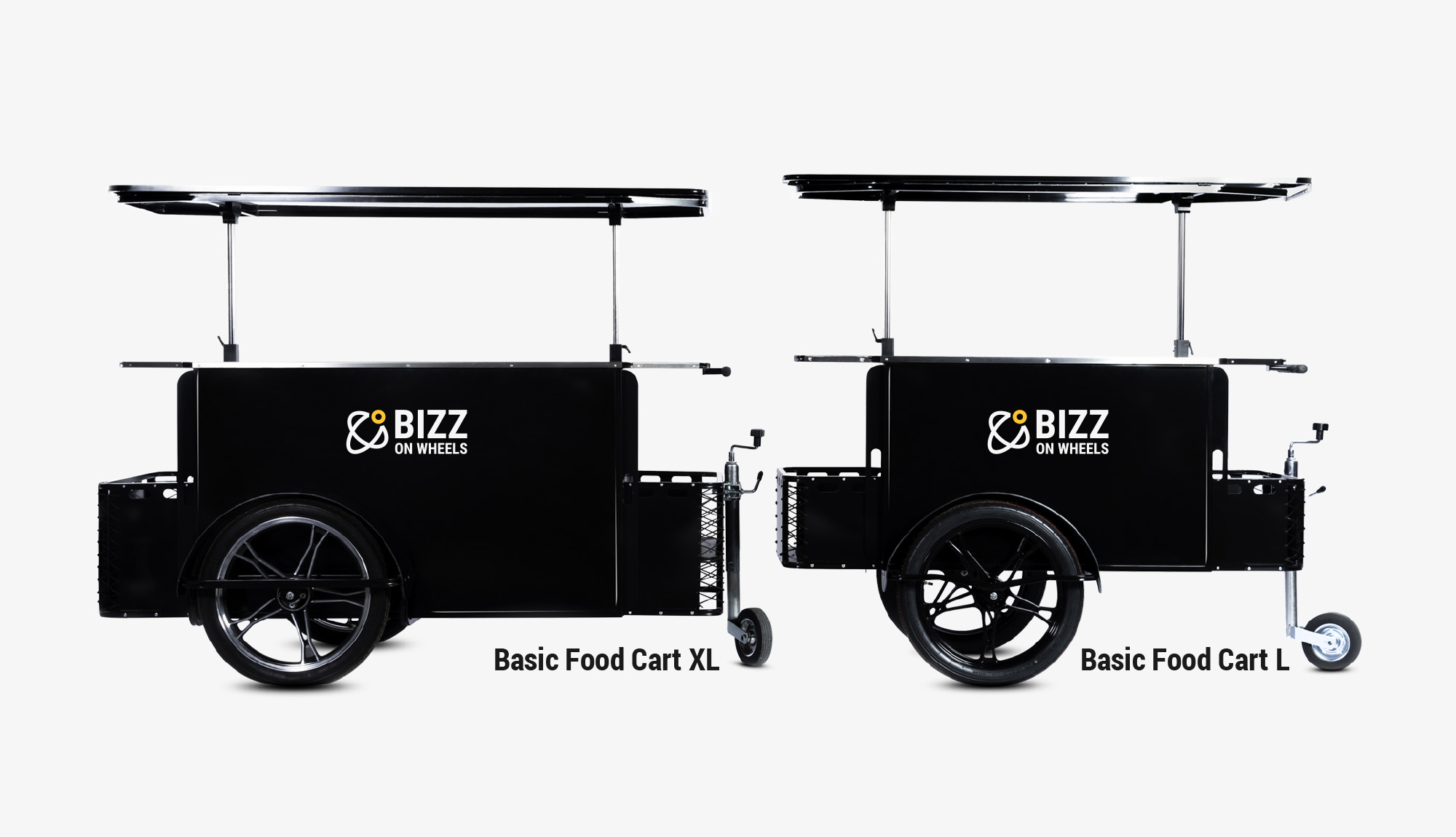 Large and extra large food carts by Bizz On Wheels