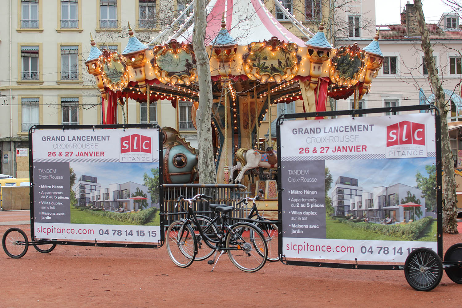 Guerilla marketing with AdBicy large mobile billboards