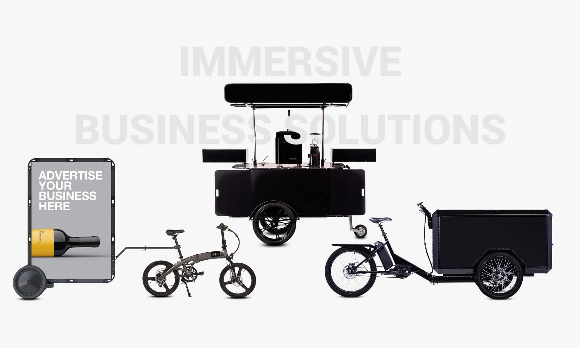 Food carts cargo bike and mobile billboards Bizz On Wheels