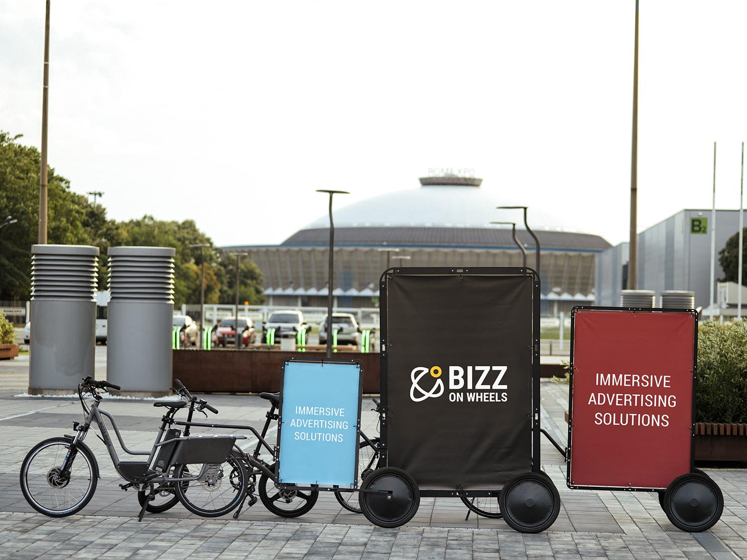 AdBicy bike advertising trailers and mobile billboards for sale
