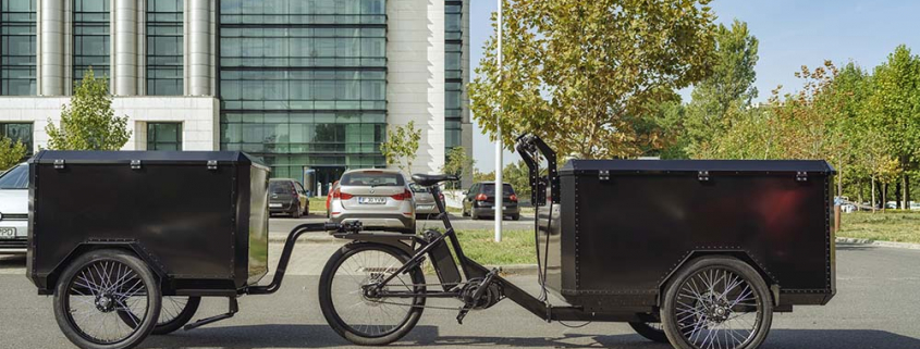 Front load electric cargo bike for sale by Bizz On Wheels