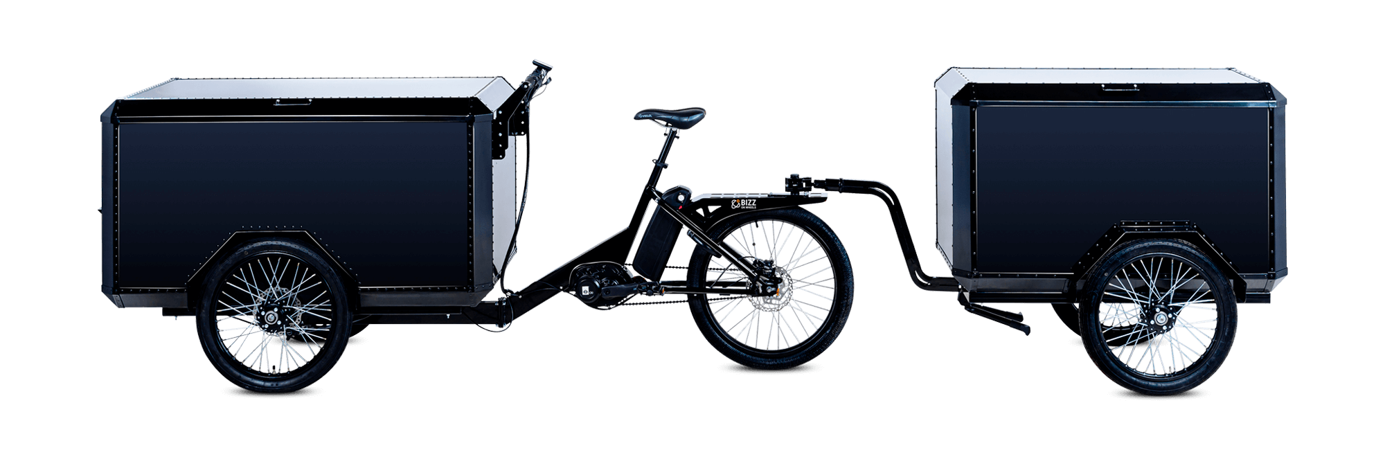 TR01 electric cargo bike with trailer manufactured by Bizz On Wheels