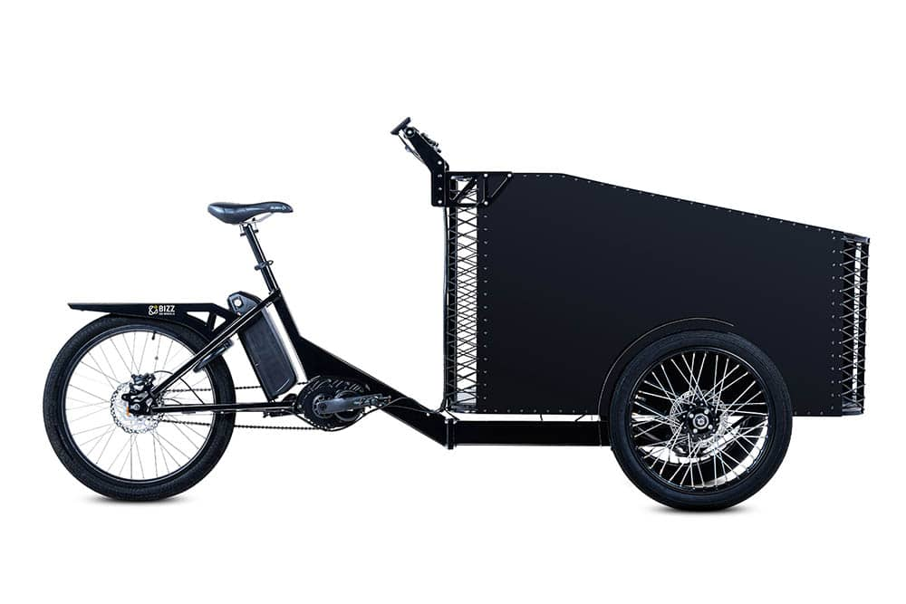 Front load cargo e-bike by Bizz On Wheels