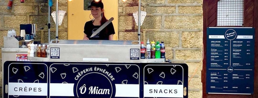 Crepe cart manufactured in Eu by Bizz On Wheels