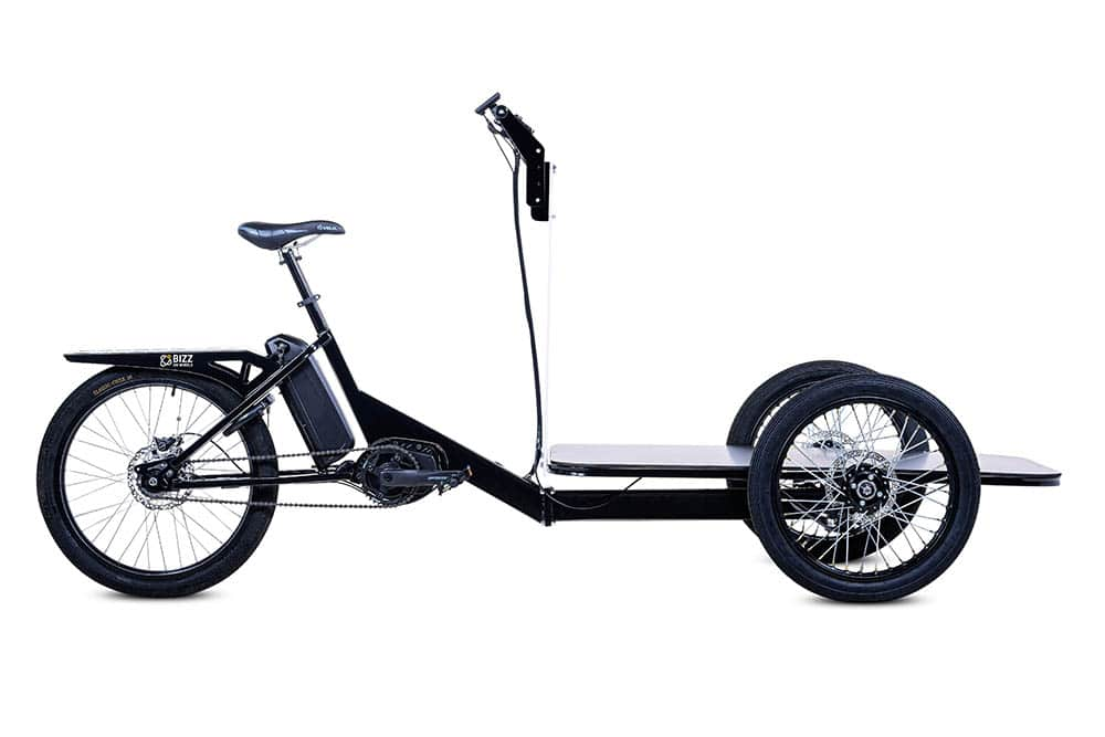 Platform electric cargo bike by Bizz On Wheels